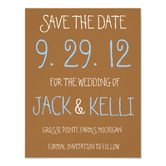 Rustic Brown Wedding Save-the-Date Card