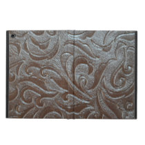 Rustic brown western country leather pattern powis iPad air 2 case
