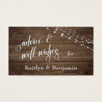 Rustic Brown Wood & Lights, Advice and Well-Wishes