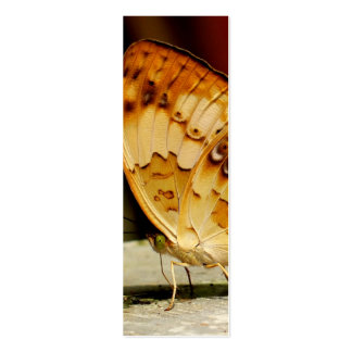 Rustic Brush Footed Butterfly Mini Business Card