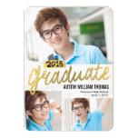 "Rustic Brush Graduation Announcement Invitation 5"" X 7"" Invitation Card"