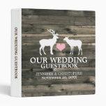 Rustic Buck and Doe Wedding Guestbook Binder