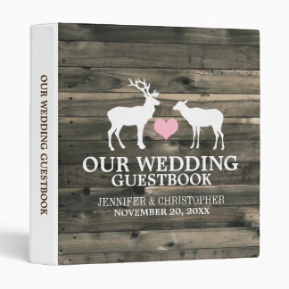 Rustic Buck and Doe Wedding Guestbook Binder