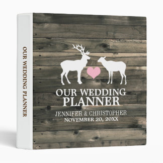 Rustic Buck and Doe Wedding Planner Binder
