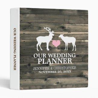 Rustic Buck and Doe Wedding Planner Binder