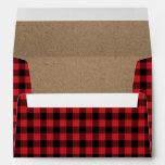 Rustic Buffalo Plaid Lumberjack Envelope