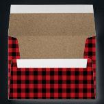 "Rustic Buffalo Plaid Lumberjack Envelope<br><div class=""desc"">Rustic Buffalo Plaid Lumberjack Envelope</div>"