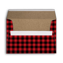 Rustic Buffalo Plaid Lumberjack Envelope