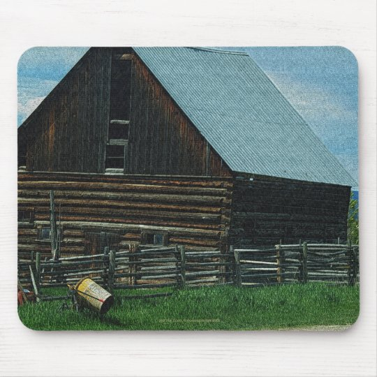 Rustic Buildings, Farm Sheds Architecture Mouse Pad