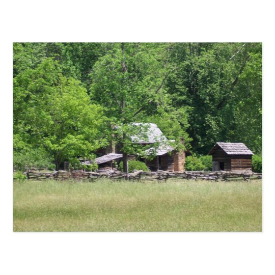 Rustic Buildings Postcard