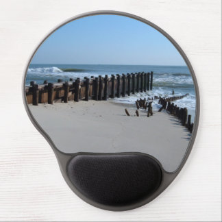 Rustic Bulkhead on Beach Gel Mousepad