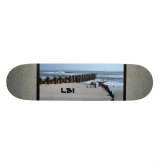 Rustic Bulkhead on Beach Skateboard