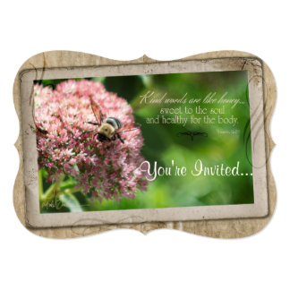 Rustic Bumblebee Flower Design Card