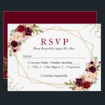 """Rustic Burgundy Blush Floral Gold Glitters RSVP Card<br><div class=""""desc"""">Rustic Burgundy Blush Floral Gold Glitters RSVP Card. (1) For further customization, please click the &quot;customize further&quot; link and use our design tool to modify this template. (2) If you prefer Thicker papers / Matte Finish, you may consider to choose the Matte Paper Type. (3) If you need help or...</div>"""