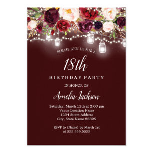 18th Birthday Invitations Zazzle