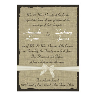 Rustic Burlap and Bow Card