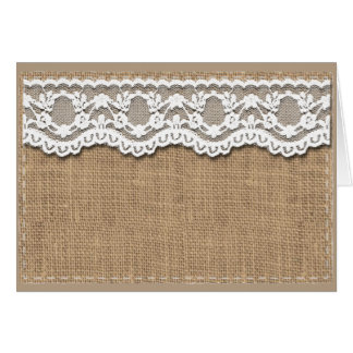 Rustic Burlap and Lace Card