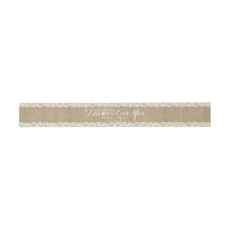 Rustic Burlap and Lace | Happily Ever After Invitation Belly Band