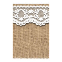 Rustic Burlap and Lace Stationery