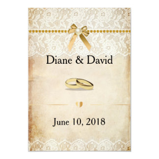 Rustic Burlap and Lace Wedding Invitations
