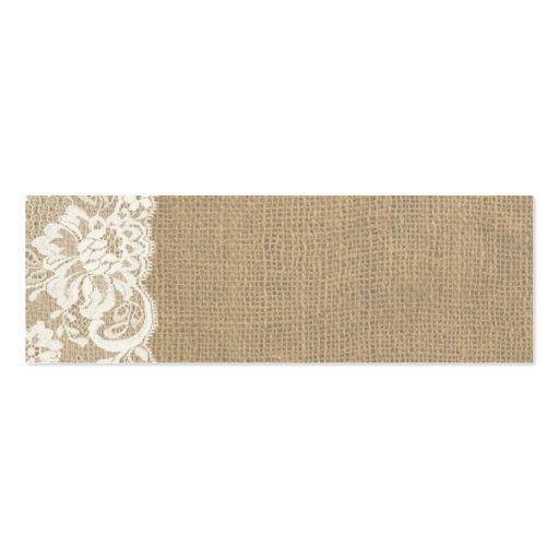 market lace place cards