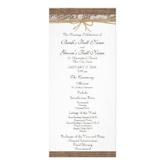 Rustic Burlap and Twine Wedding Program