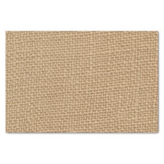 """Rustic Burlap Background Printed 10"""" X 15"""" Tissue Paper"""
