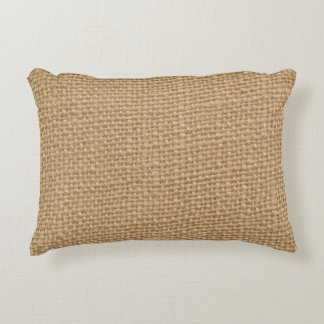 Rustic Burlap Background Printed Accent Pillow