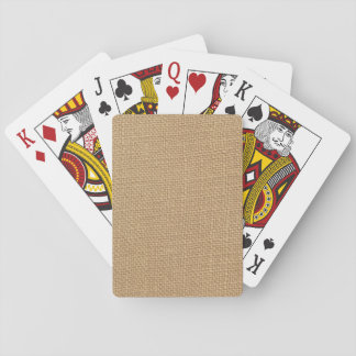 Rustic Burlap Background Printed Poker Cards