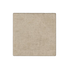 Rustic Burlap Background Printed Stone Magnet at Zazzle