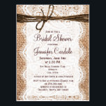 "Rustic Burlap Bridal Shower Invitation Postcard<br><div class=""desc"">Use these to mail out invitations for country style bridal shower.</div>"