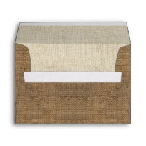 rustic burlap country wedding envelopes
