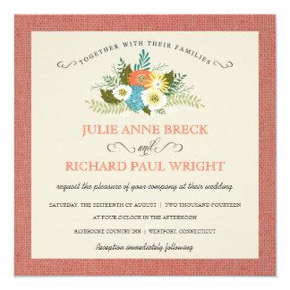 Rustic Burlap Country Wedding Invitations