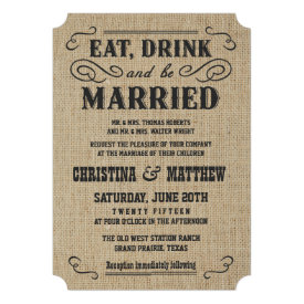Western Wedding Invitations Country Wedding Invitations