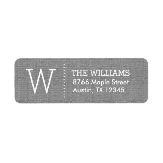 Rustic Burlap Custom Monogram Label