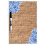 Rustic Burlap Dahlia Dry-Erase Boards
