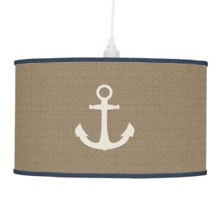 Rustic Burlap Effect Nautical Ship Anchor Hanging Pendant Lamps