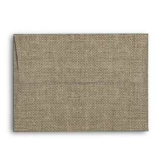 Rustic Burlap Envelope 5 x 7