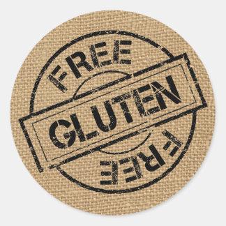 Rustic Burlap Gluten Free Stickers
