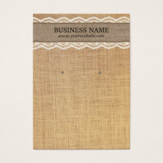 Rustic Burlap & Lace Earring Display Cards