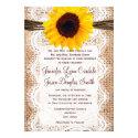 Rustic Burlap Lace Twine Sunflower Wedding Invites (<em>$2.15</em>)
