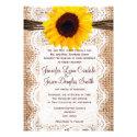 Rustic Burlap Lace Twine Sunflower Wedding Invites Invitations (<em>$2.05</em>)