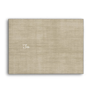 Rustic Burlap Linen Neutral Coordinating Envelope