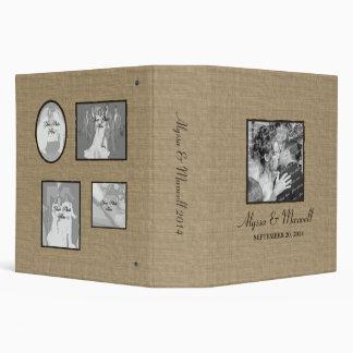 Rustic Burlap Look with Photos Binder