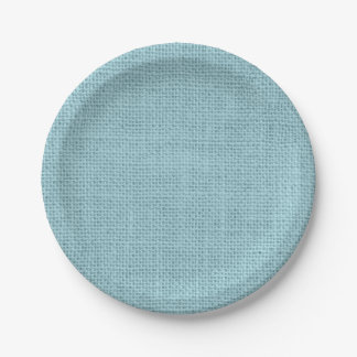 Rustic Burlap Party Paper Plates In Any Color