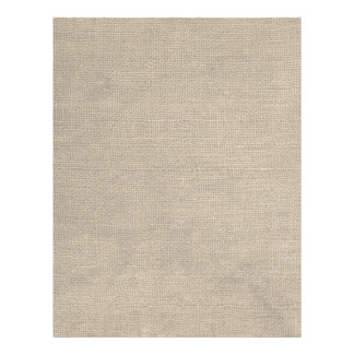 Rustic Burlap Print Custom Letterhead