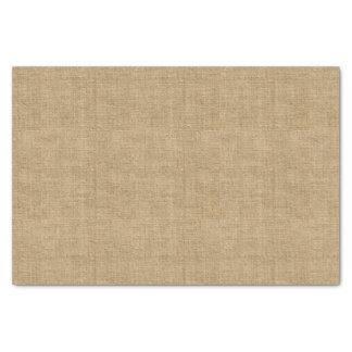 Rustic Burlap Print Tissue Paper