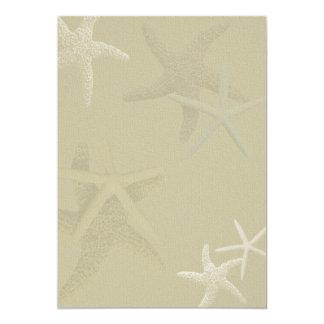 Rustic Burlap Starfish Wedding Fan Program Paper