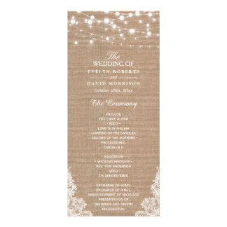 Wedding Reception Program Rack Cards | Zazzle