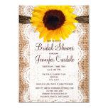 "Rustic Burlap Sunflower Bridal Shower Invitations 4.5"" X 6.25"" Invitation Card"